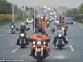 天津上百辆哈雷摩托车进行万圣节巡游 (4)