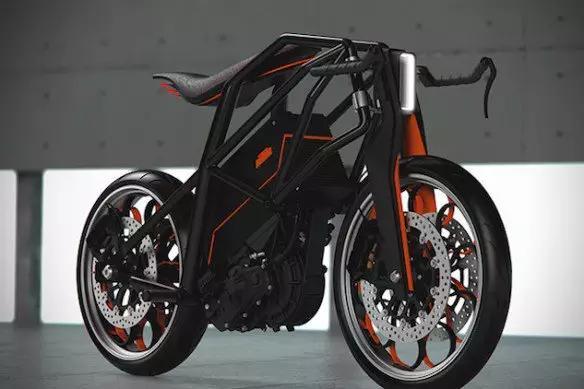ktm推出全新概念电动摩托车——ktm ion
