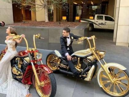 用摩托当婚车丢人?哈雷定制版婚庆专用车了解一下