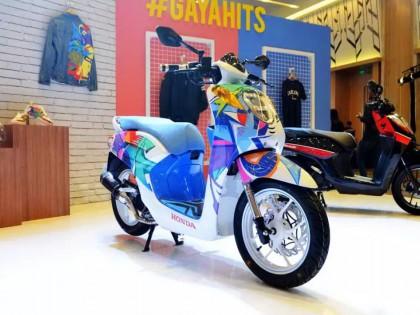 色彩缤纷,印尼 Honda Genio 110 踏板的个性化改装