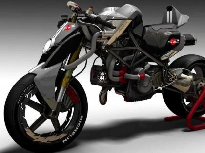 街头摩托未来的样子:汽车设计师重新设计的杜卡迪monster