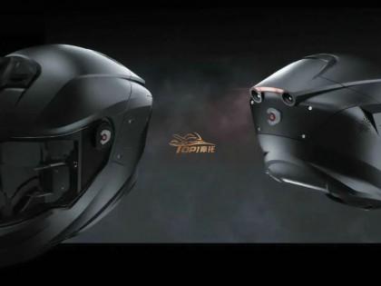 HUD导航 盲区监测 自带前后摄像头 你敢相信这是摩托车头盔吗?