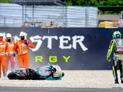 2021 MotoGP 西班牙巴塞罗那站:罗斯摔车