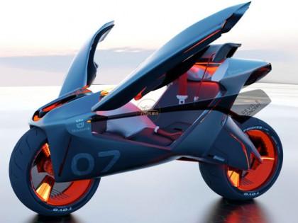 胡斯瓦纳Devil S:自平衡、飞翼门 这才是摩托车的未来
